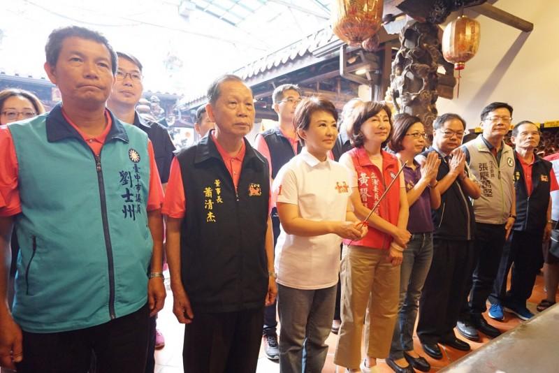 台中市長盧秀燕參加起駕大典。(記者許國楨翻攝)