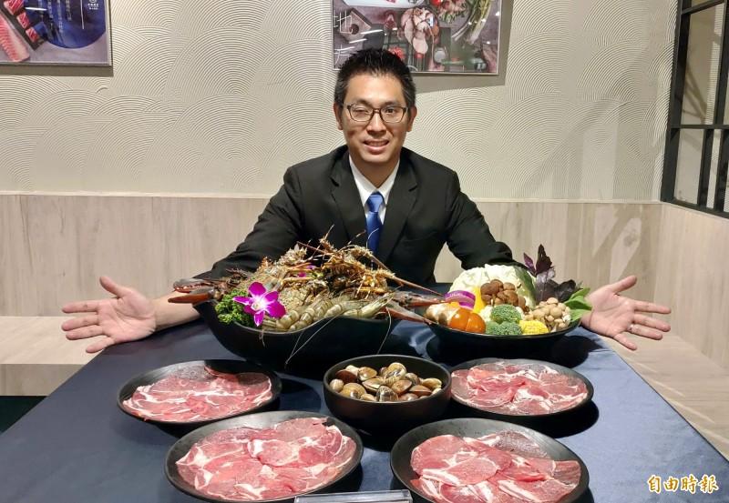 天圓地方職人鍋物執行長歐孟翰曾到藍帶學院習藝,對自家鍋物品質有信心。(記者張菁雅攝)