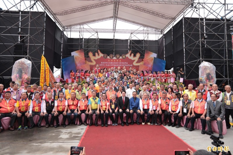 台灣開漳聖王宗教民俗觀光文化季活動今年在基隆登場,有來自全國91間宮廟、1100多名信眾熱情參與。(記者林欣漢攝)