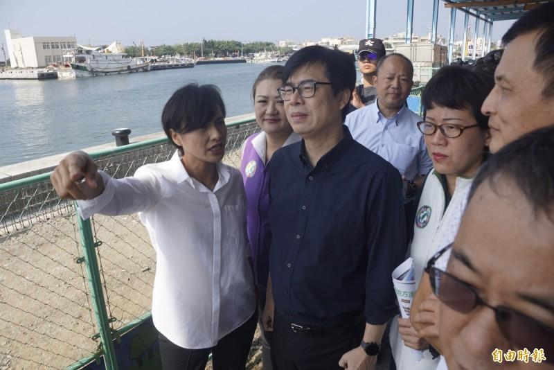 陳其邁要韓國瑜把豪宅案說清楚。(記者黃佳琳攝)