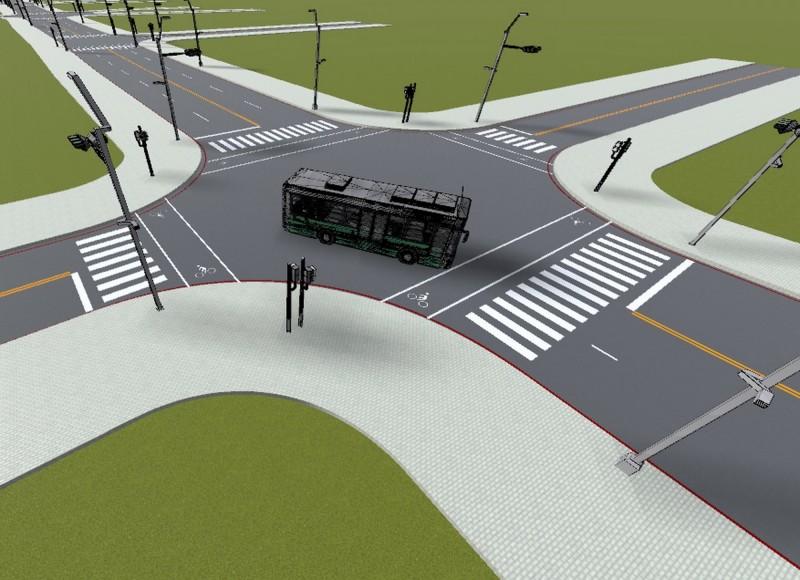 自動巴士駕駛示意圖。(記者張菁雅翻攝)