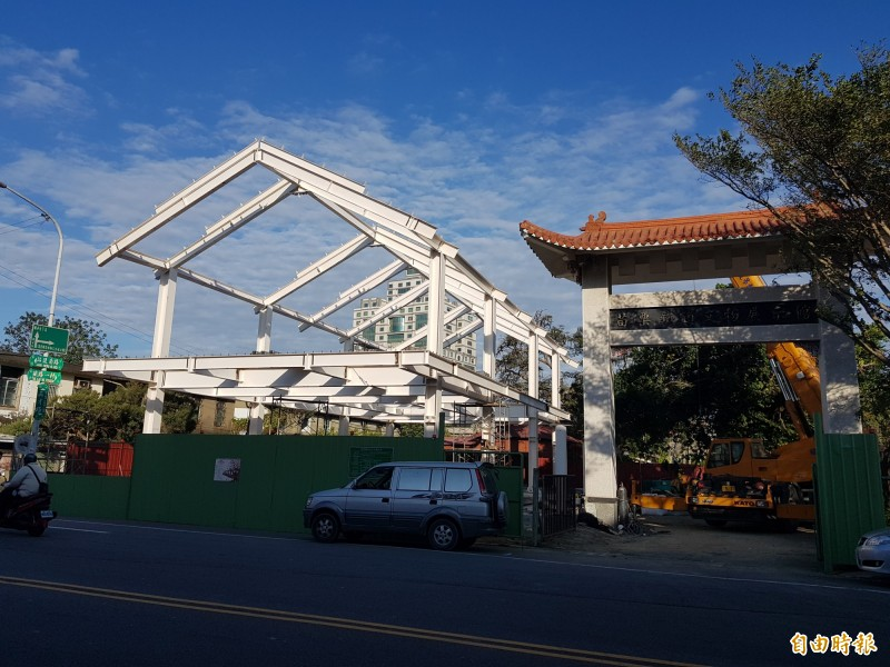 「願景館」工程已展開,縣府預計明年農曆春節前完成。(記者彭健禮攝)