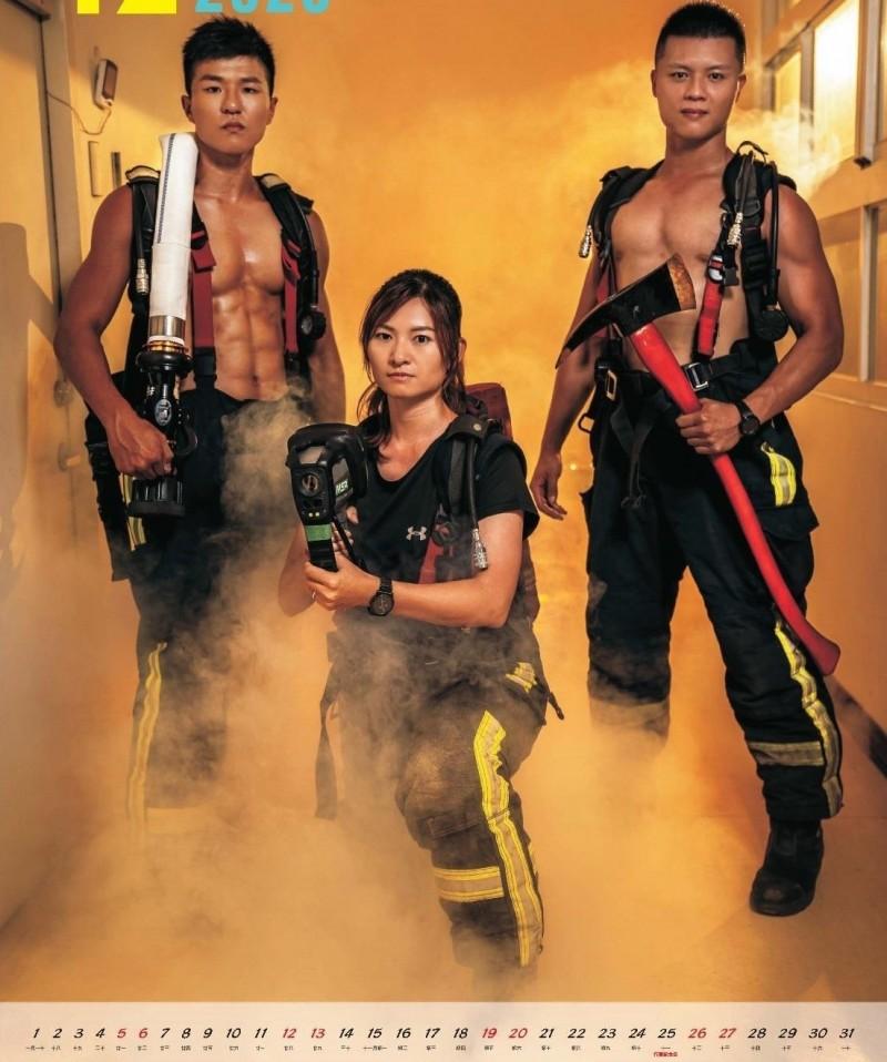 莊翌琳是台中市消防局首位特搜女分隊長。(記者張瑞楨翻攝)