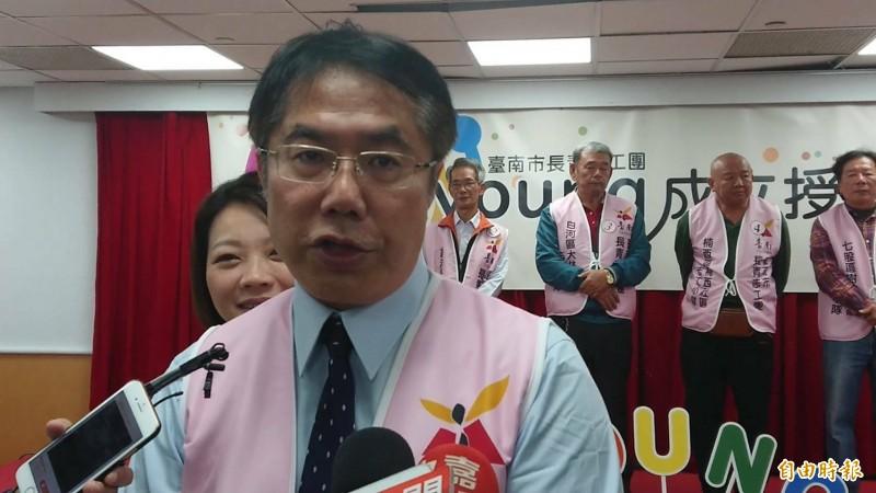 榮登國際名人榜的「台南女兒」蘇姿丰,也是南市卓越市民,台南市長黃偉哲表達恭喜。(記者洪瑞琴攝)