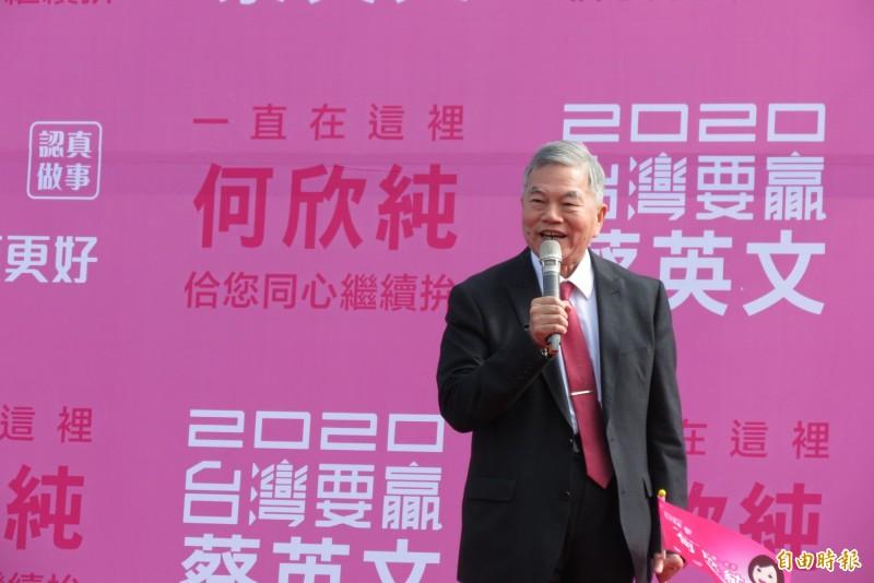 沈榮津表示,目前台商加上在地企業投資約8200多億元,讓台灣經濟發展2至30年。(記者蘇金鳳攝)