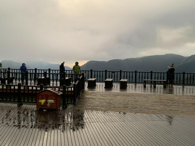 太平山今天清晨的景致。(記者江志雄翻攝)