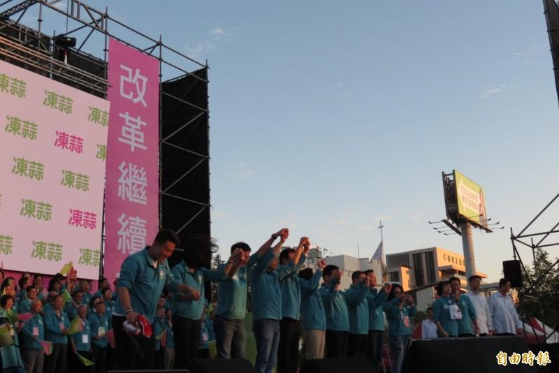 小英將在元月4日在台中市造勢晚會。(記者蘇金鳳攝)