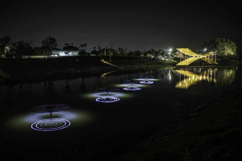 2020月津港燈節 「海市蜃樓」18日登場,期間限定的視覺饗宴,台南市長黃偉哲表示,絕無僅有,保證值得一遊。(圖由南市文化局提供)