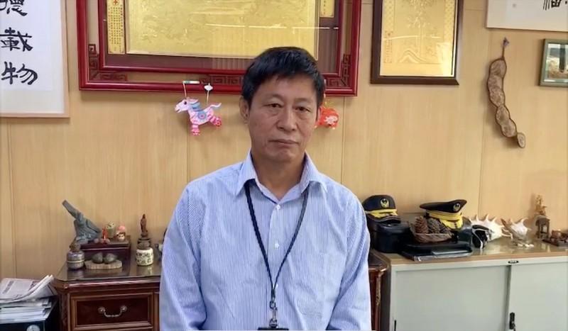 投縣消防局副局長陳興傑強調,對此案絕不寬貸。(記者陳鳳麗攝)