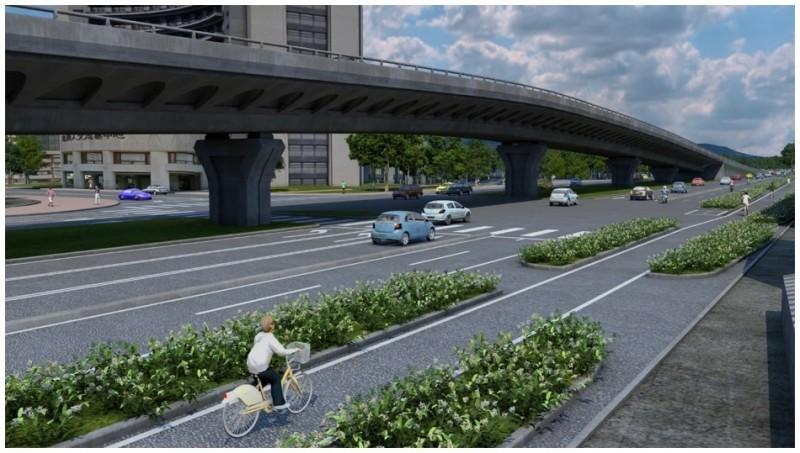淡北道路完工模擬圖。(新北市政府工務局提供)