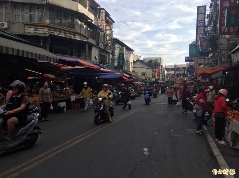 斗六西市場周邊交通將管制。(記者詹士弘攝)