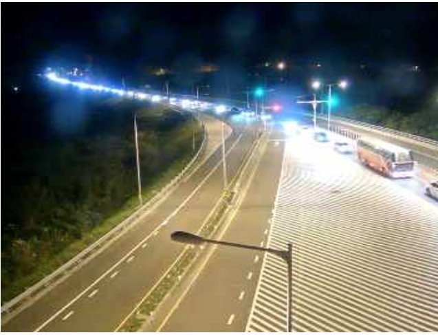 蘇花改南澳市區路段,目前車速緩慢,平均時速僅20公里。(翻攝自省道即時路況)