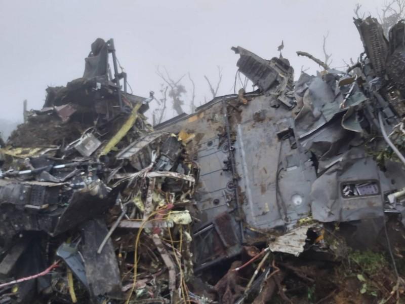 黑鷹直升機殘骸。(資料照,記者張議晨翻攝)