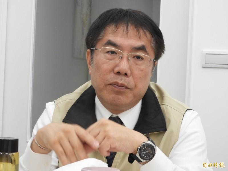 台南市長黃偉哲今日證實環保局長將由謝世傑接任。(記者洪瑞琴攝)