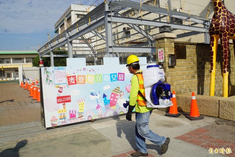 麥寮鄉立幼兒園將裝設「紅外線熱像儀」,測溫幼兒是否發燒。(記者詹士弘攝)