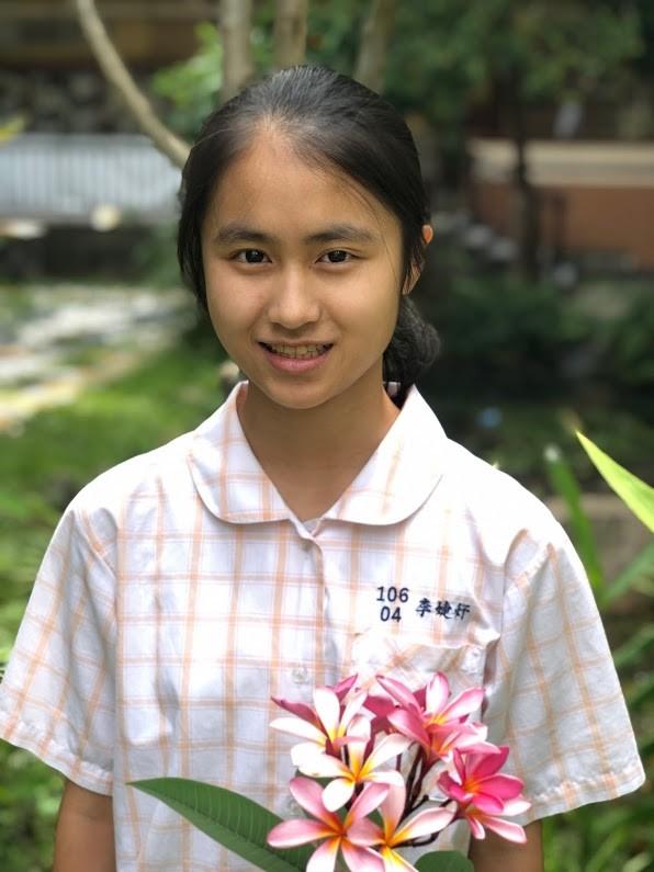 蘭雅國中李婕妤今年國中會考成績表現優異。(蘭雅國中提供)
