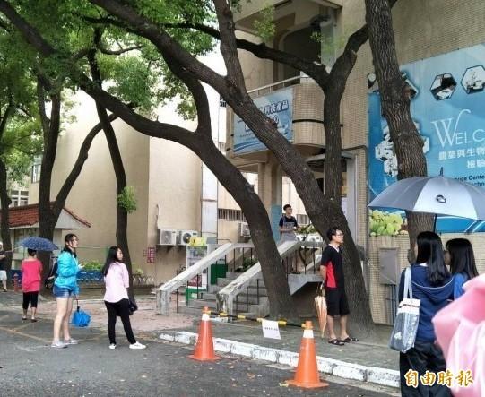大學指考3日登場,雲林試場設於虎尾科技大學。(記者林國賢攝)