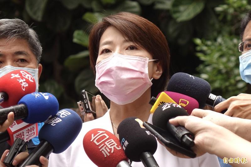 台北市副市長黃珊珊今2日出席台北市消防局舉辦「KTV公安動態暨消防搶救示範演練」活動。(記者塗建榮攝)