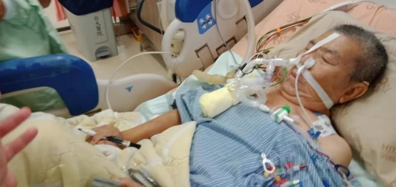 前立委蔡啟芳完成肺部移植手術。(取自蔡易餘臉書)