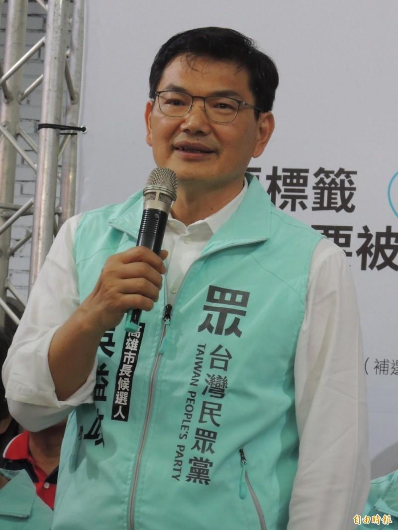 高市警察局長異動,吳益政認為撤換首長僅有象徵性意義。(記者王榮祥攝)