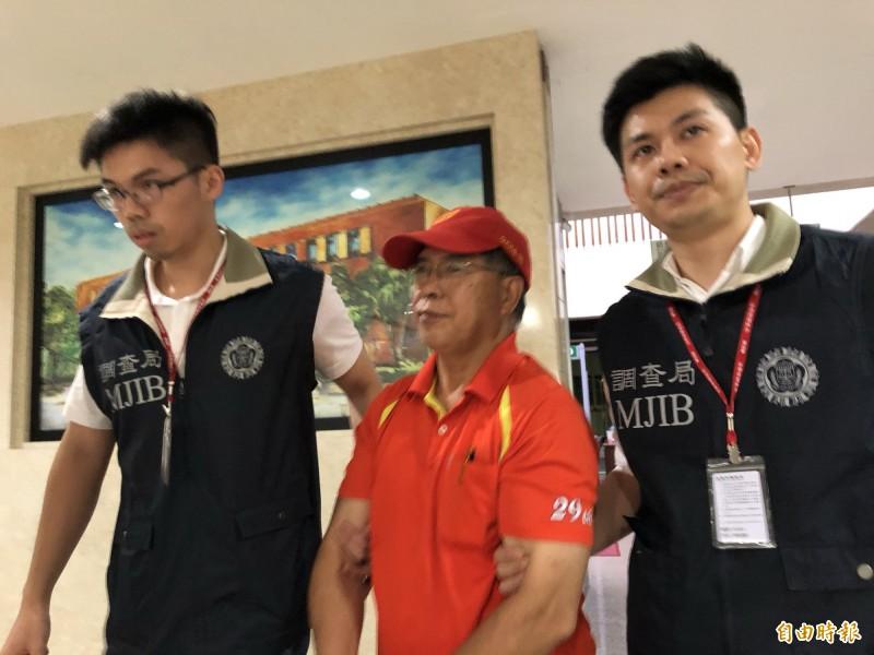 台灣昇降設備檢查促進安全協會秘書長簡政健(見圖)被拘提到案。(記者錢利忠攝)