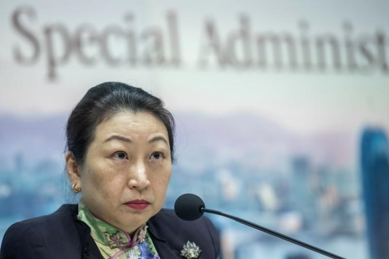 香港律政司長鄭若驊。(彭博檔案照)