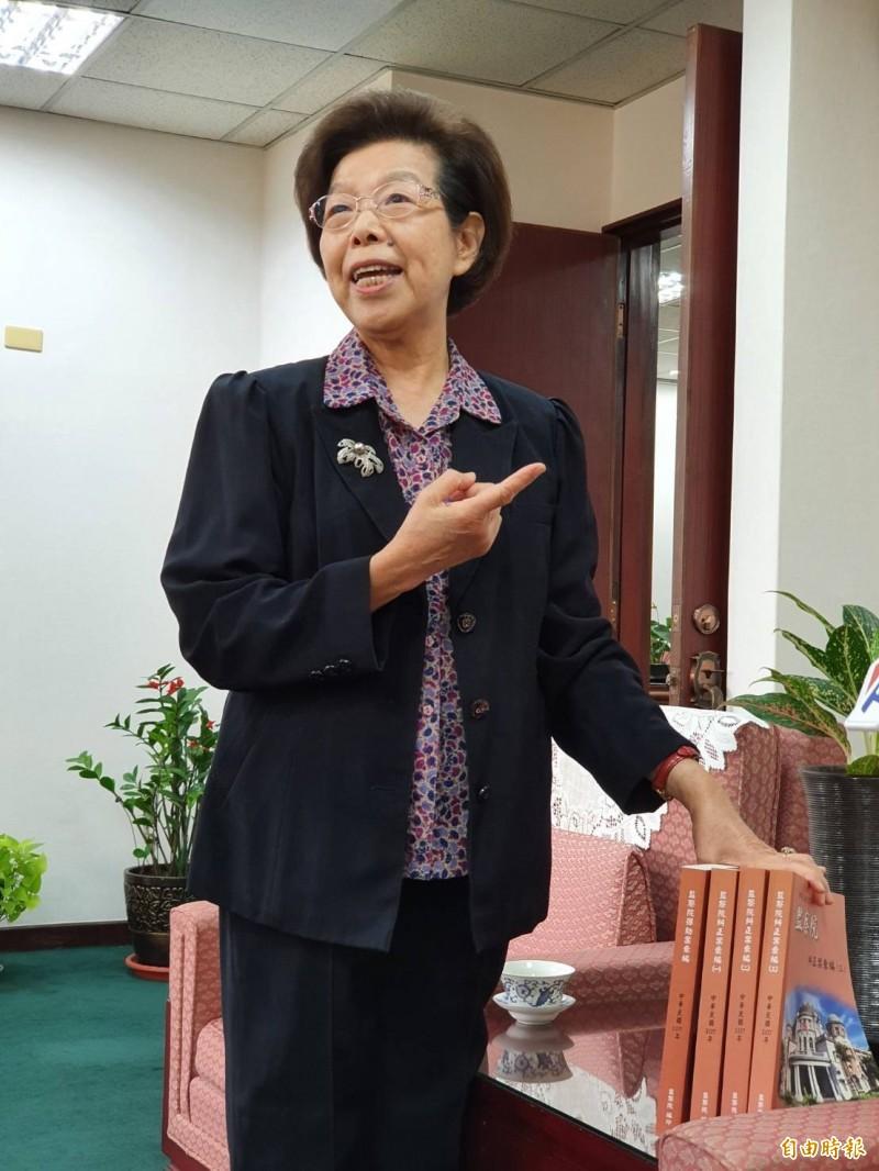 監察院長張博雅認為,監察院不應該被廢除。(記者謝君臨攝)