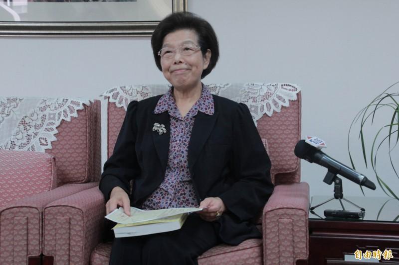 監察院院長張博雅支持國民參與審判。(記者吳政峰攝)