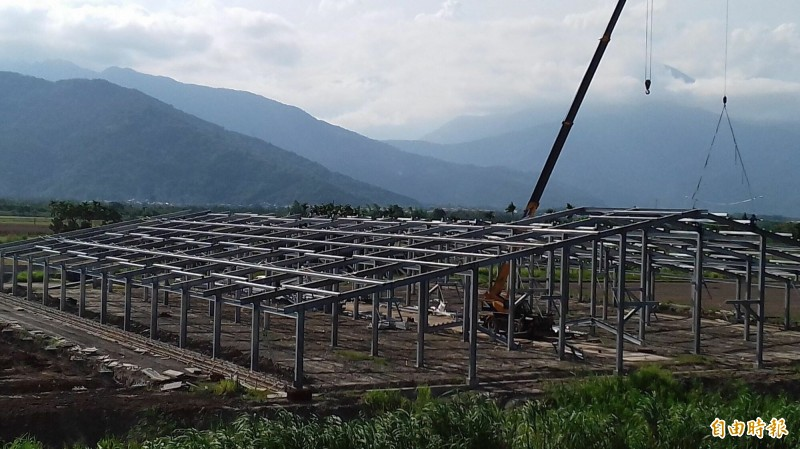 廖皎邦畜牧場位於光復鄉太巴塱部落的工地。(Pangcah阿美族中間青年小組提供)