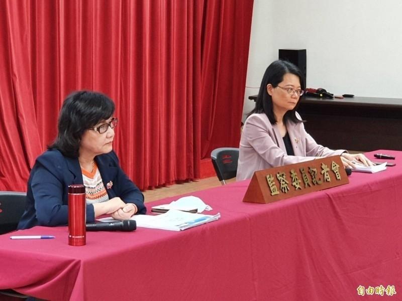 監委王幼玲(左)、王美玉(右)。(資料照,記者謝君臨攝)