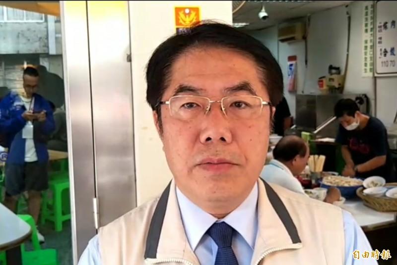 南市衛生局長陳怡遭爆婚外情,黃偉哲表示尊重司法。 (記者王姝琇攝)