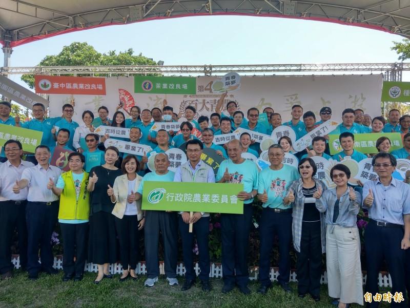 農委會主委陳吉仲,今天至宜蘭為第4屆百大青農授證。(記者張議晨攝)