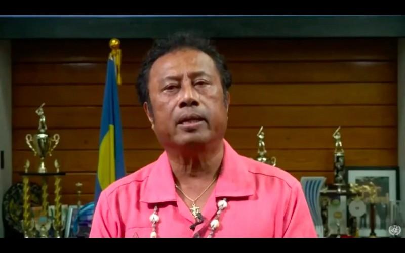 帛琉總統雷蒙傑索23日表示,目前帛琉正與台灣合作,將推動建立全球第一個安全旅行經濟圈。(翻攝自影片)