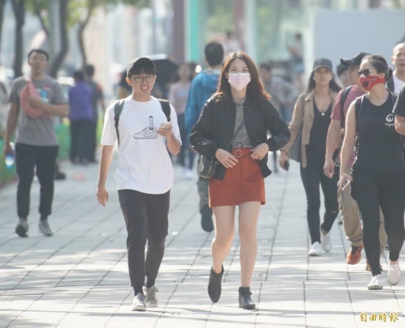 環保署指出,今日西半部位於背風區,風速偏弱,汙染物易累積,高屏午後局部地區空品可能達紅色警示等級。(資料照)