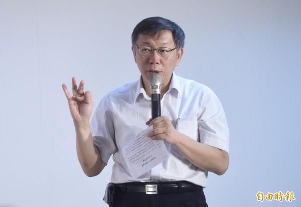 台北市長柯文哲去年9月在節目中表示,稱「扁一開始是裝的,後來變成真的病」,被檢舉違反《醫師法》第23條、25條無故洩漏病人病情,違反醫師倫理,台北市衛生局事後開罰最低的2萬元。(資料照,記者簡榮豐攝)