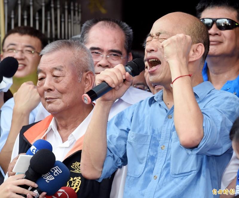 韓國瑜昨造勢指控名嘴收黑錢攻擊他,黃光芹對此表達強烈不滿。(資料照)