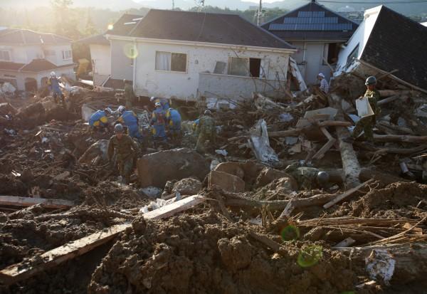 日本警察廳今(12)日公布,西日本暴雨災區至今遇難者已達200人。(路透)