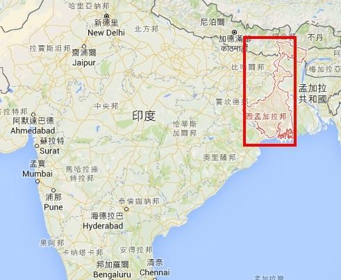 東印度野象闖入人類聚落事件頻傳,原因可能是大象的棲息地遭到破壞、與人類居住的界線越趨模糊。(圖擷自Google地圖)