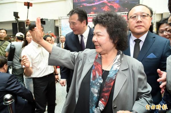 陳菊上節目受訪,對民進黨在北市長選舉是否該禮讓柯文哲做出回應。(資料照)
