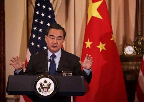 中華人民共和國外交部長王毅,本月25日於美國華府智庫演講時提到台灣「憲法」,外界視此為中國動搖基本立場。(法新社)