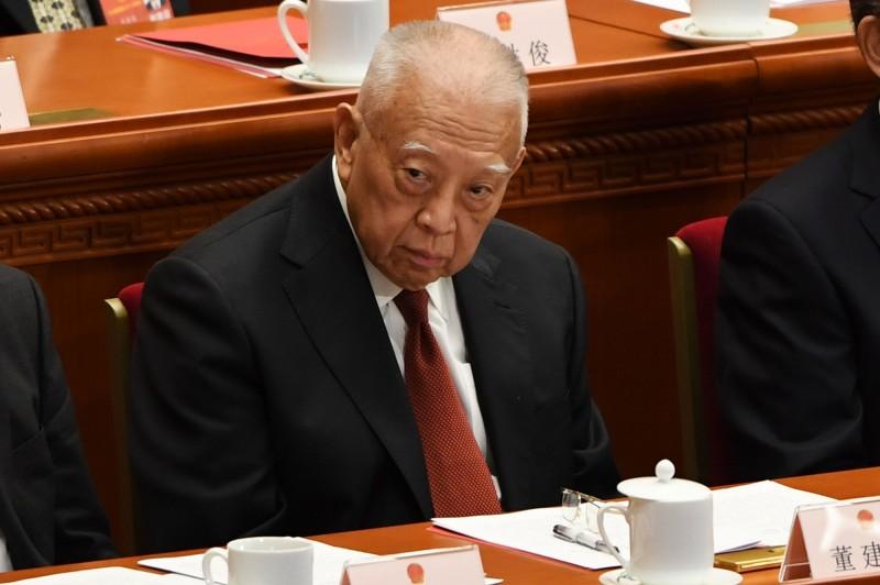 前香港特首董建華(見圖)今(5)日發表聲明,表示全力支持現任港特首林鄭月娥依法治港。(法新社)