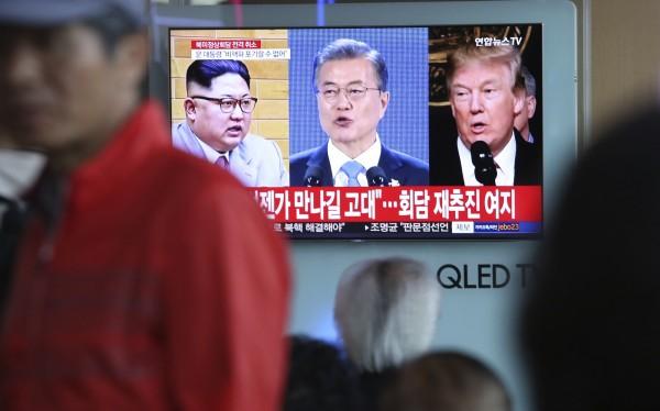 有消息傳出,南韓總統文在寅可能加入川金會,一同宣布韓戰結束,令中國不滿,官媒疾呼沒中國參與就無效。(美聯社)