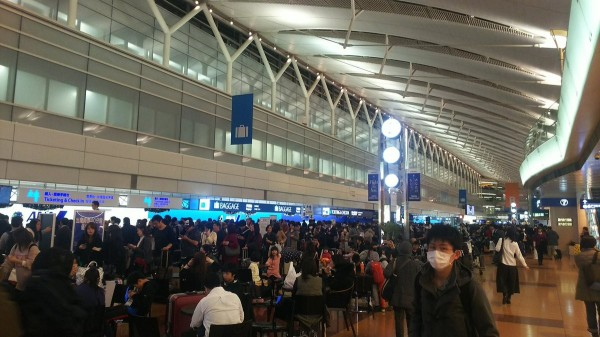 3000多名旅客滯留在新千歲機場。(圖擷自推特)