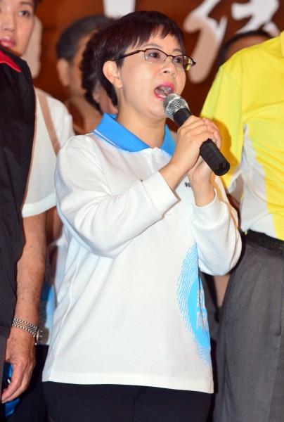 台北市議員候選人賴素如晚間至總部發表落選感言,她表示,將會面對未來挑戰,往幫助弱勢公益的方面前進。(資料照,記者王藝菘攝)