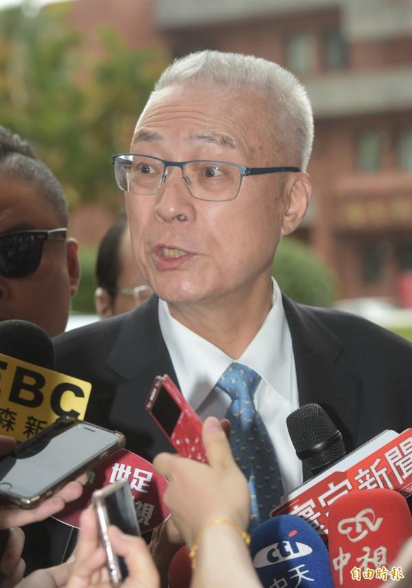 被問到是否要開除林為洲,吳敦義說,要等地方黨部完成相關手續提報黨中央。(資料照)