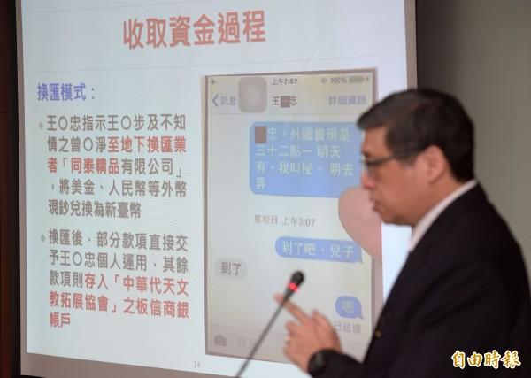 新黨青年軍王炳忠因涉嫌為中國在台發展組織,今被依違反國家安全法起訴,王炳忠庭訊時雖否認拿中國官方的錢,還稱他的3萬美金,是向2015年3月開始交往的中國籍女友許芝會借來的,但台北地檢署還原他與女友之間的通訊軟體對話,發現2人是從2016年11月才開始交往。(記者黃耀徵攝)