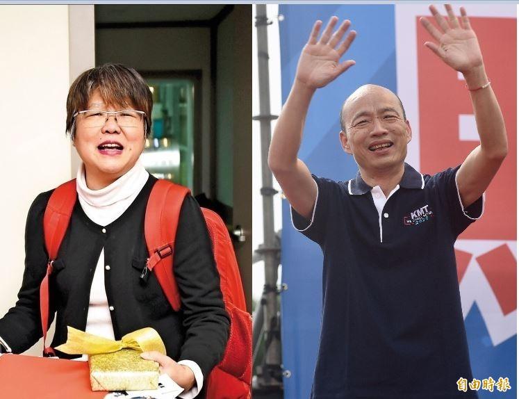 資深媒體人黃光芹透露,由於受到韓粉霸凌,她曾經想加入國民黨參加總統初選,藉此與韓國瑜進行一場大辯論來反擊。(資料照,合成圖)