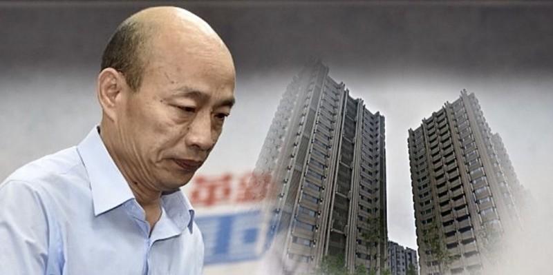 韓國瑜表示,自己是向銀行貸款才購入豪宅,黃帝穎質疑,韓是用什麼辦法,在失業10年的情況下讓銀行拿出錢。(資料照,Google街景圖,本報合成)