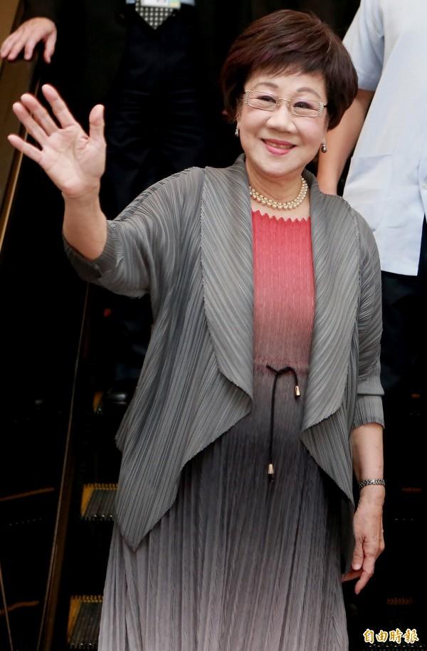前副總統呂秀蓮5月31日自馬來西亞返台。(資料照)
