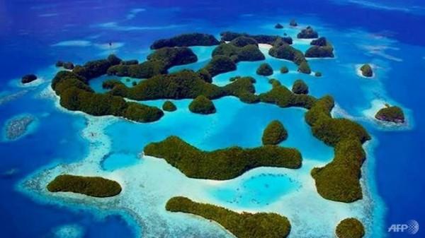 帛琉位於關島西南約1300公里,其全國約有340座島嶼。(法新社)